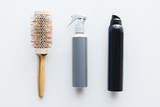 styling hair sprays and curling brush - 176909212
