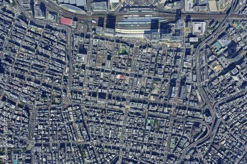 東京駅八重洲上空/真俯瞰空撮 Poster