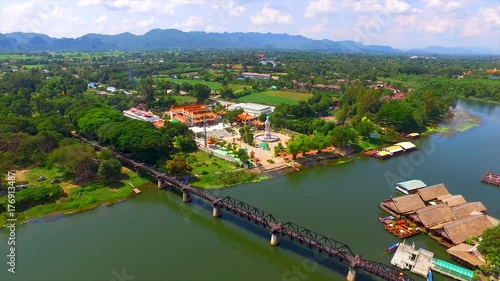 Plakat The Bridge Over the River Kwai in Kanchanaburi, Thailand