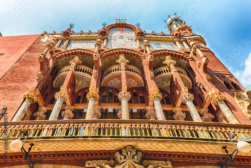 obraz PCV Exterior of Palau de la Musica Catalana, Barcelona, Catalonia, Spain