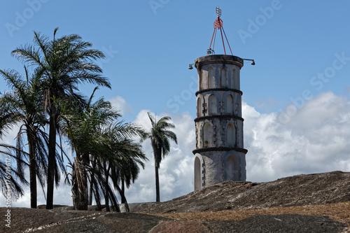 la tour Dreyfus, moyen de communication en morse avec l'île du Diable, bagne du détenu le Capitaine Dreyfus, Kourou Guyane française