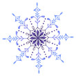 Hand painted Decorative Watercolor Snowflake - 176923245
