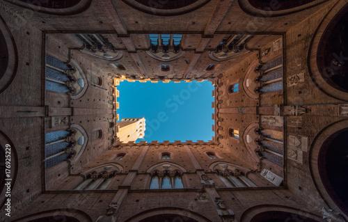 Fotobehang Toscane Piazza del Campo, Siena Tuscany