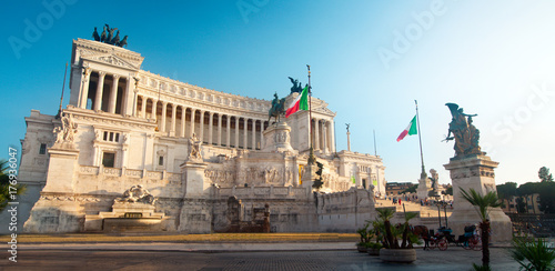 Vittorio Emanuele monument (Tomb of unknown soldier) in the city of Rome in Italy Poster