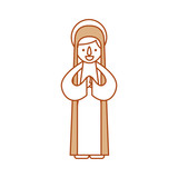 blessed holy virgin mary christmas celebration icon - 176938454