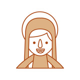 blessed holy virgin mary christmas celebration icon - 176938471