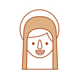blessed holy virgin mary christmas celebration icon - 176938481