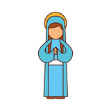blessed holy virgin mary christmas celebration icon - 176940000