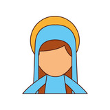 blessed holy virgin mary christmas celebration icon - 176940010