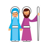 nativity the virgin mary and joseph blessed - 176942019
