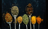 spices on the spoon - 176942691