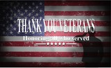 Happy Veterans Day with American flag - 176943624