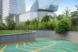 Entrance and Exit for parking Garage/Building,shanghai,china. - 176953085
