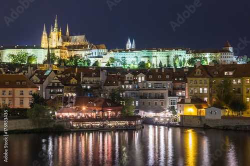 Prague Castle at night, Czech Republic. Poster