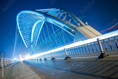 suzhou bridge road landscape,night,China. - 176955233