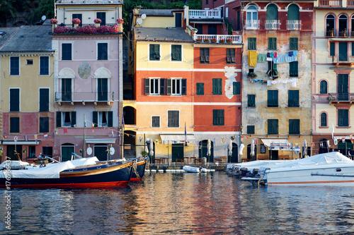 Colorful Mediterranean architecture in Portofino Poster