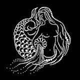 Mermaid Pours Water Wall Sticker
