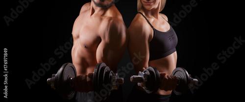 Plexiglas Fitness Fitness Training Workout Muskeln Mann Frau
