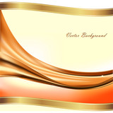 Vector abstract background with golden ribbons - 176976029