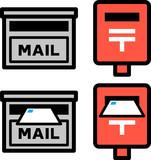 郵便受けと郵便ポストのアイコン - 176978645