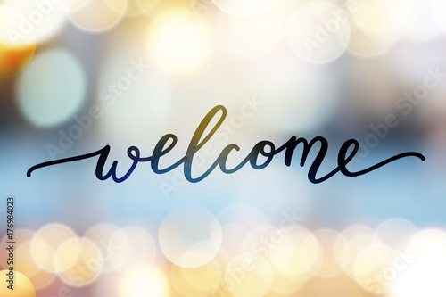 welcome vector lettering - 176984023