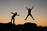 climb success in dangerous rocks - 176985040