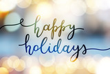 happy holidays lettering - 176986624