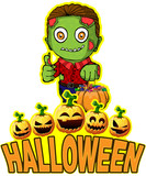 Halloween Poster with Zombie - 176988458