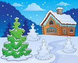 Winter cottage theme image 2 - 176989642