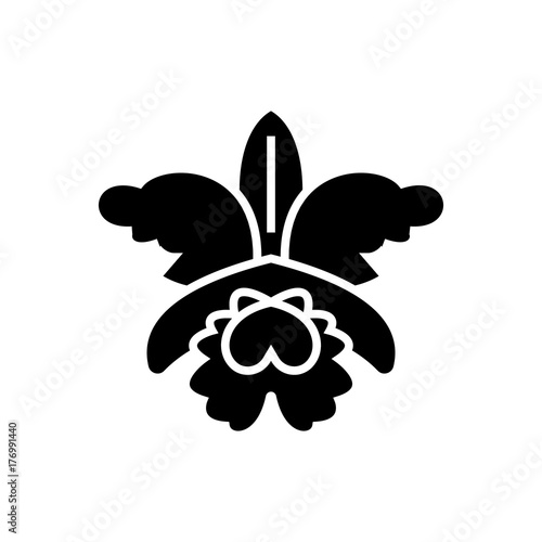 flower - orchid icon, illustration, vector sign on isolated background