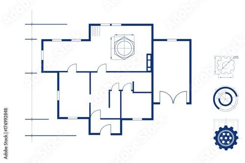 Fridge magnet Blueprint