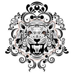 Ornamental Tiger Portrait