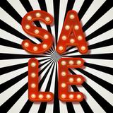Sale message with shining light bulbs - 177000461