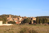 french village in Corbieres, Aude, Occitanie in south of France - 177004206