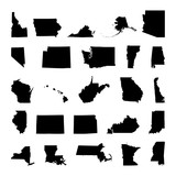 States of America territory on white background - 177015613