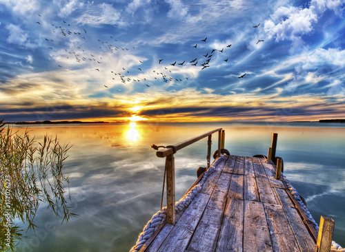 Fridge magnet puesta de sol en la albufera de Valencia