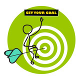 Goal setting concept illustration. Business target concept infographic. - 177035448
