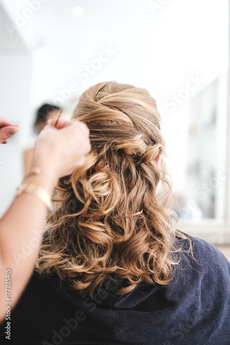 Foto op Canvas Kapsalon Coupe de cheveux