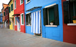 colorful houses on the island of Burano a few miles from Venice