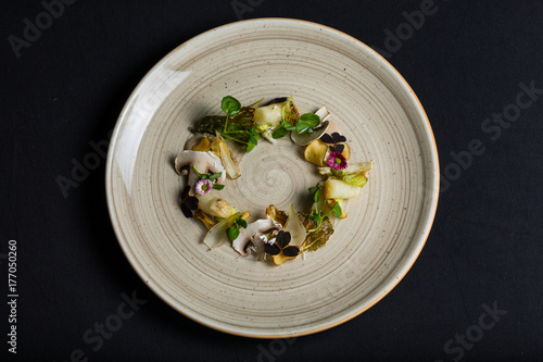 Plate with fresh, colorful vegetables