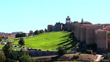 Panoramic view of the historic city Avila with its famous medieval town walls surround the city, UNESCO World Heritage. Spain. Called the Town of Stones and Saints - 177051224