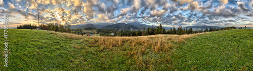 Tatra Mountains - Panorama with view on Giewont - Zakopane