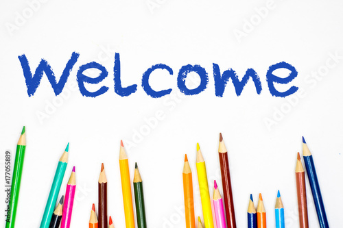 pencil crayon welcome