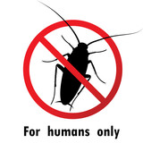 Cockroaches and Stop cockroach sign symbols vector design - 177058424
