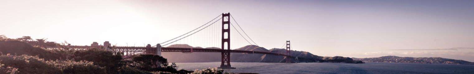 Panoramic View of Golden Gate Bridge of San Francisco