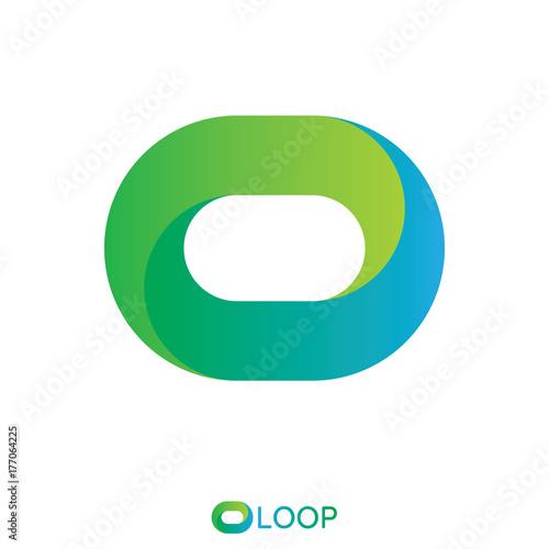 oval logo infinity circle letter o nature design concept logo template vector illustration