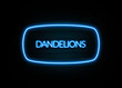 Dandelions  - colorful Neon Sign on brickwall
