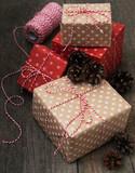 Christmas gift boxes - 177086259
