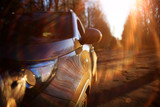 car autumn road, sun, concept autotravel - 177089469