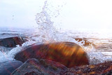 Splashes from the strong waves - 177095207